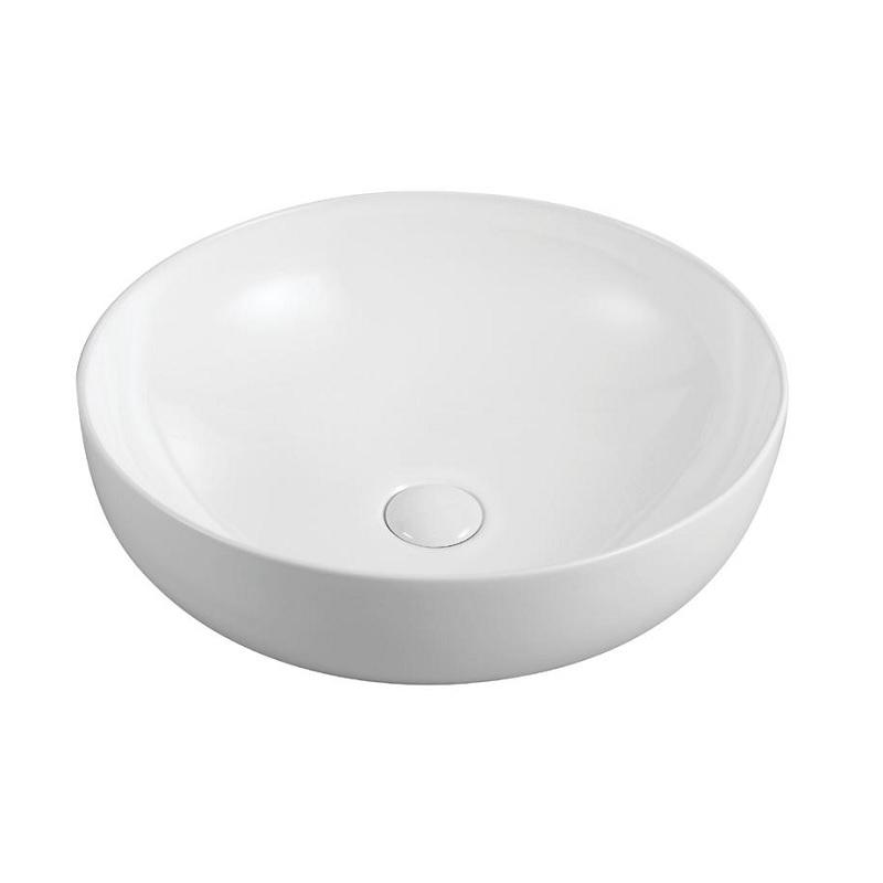 """כיור אמבטיה מונח לבן עגול 42 ס""""מ"""