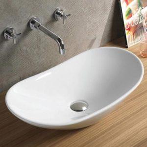 """כיור אמבטיה מונח לבן 63/36 ס""""מ"""