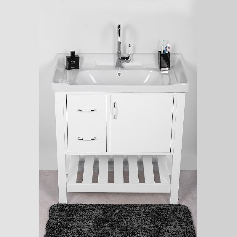 ארון אמבטיה לבן מילנו 80