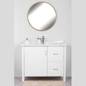 ארון אמבטיה פירנצה 100/47 לבן אפוקסי