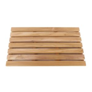 """משטח עץ מלא טיק 61 ס""""מ מלבני"""