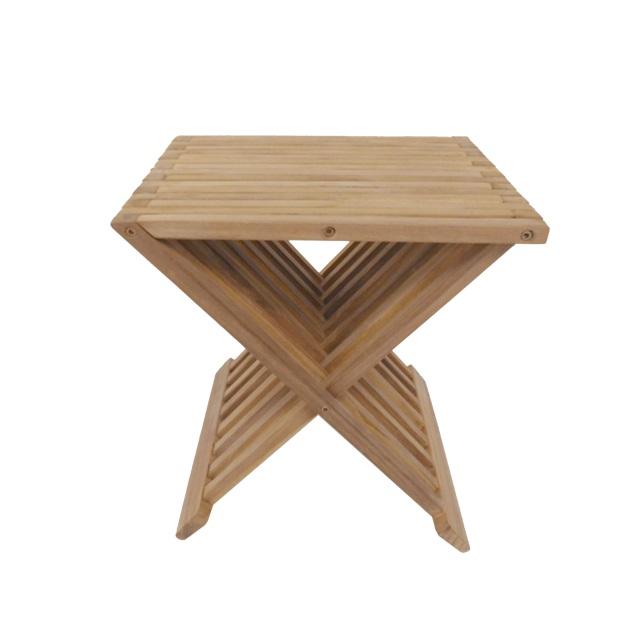 """כסא מתקפל למקלחת 40 ס""""מ עץ טיק מלא"""