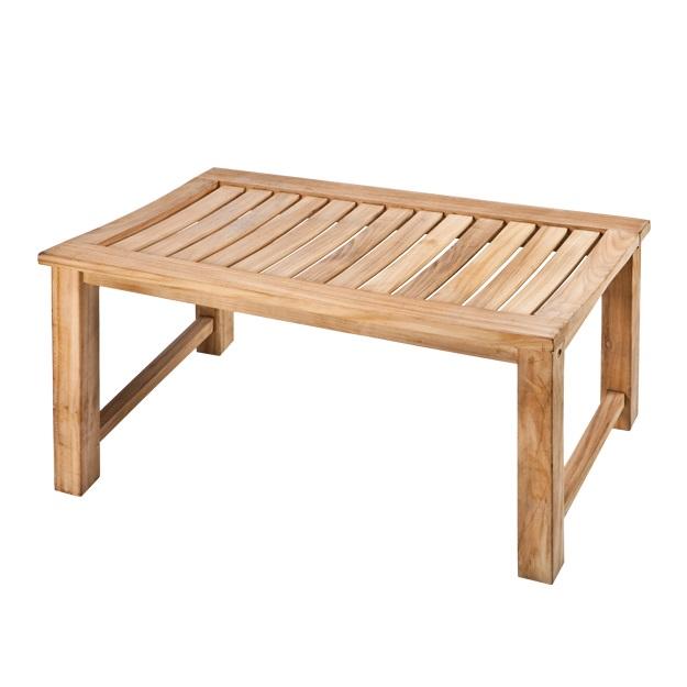 """ספסל עץ טיק למקלחת מלא 76 ס""""מ מלבני"""