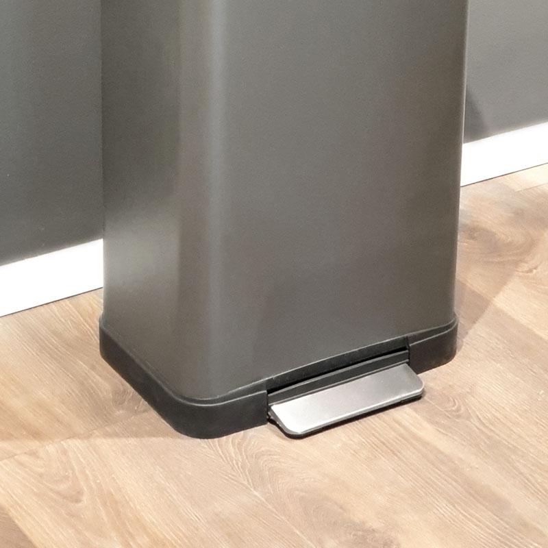 פח גדול למטבח 45 ליטר פתיחה עם פדל מלבני סגירה שקטה