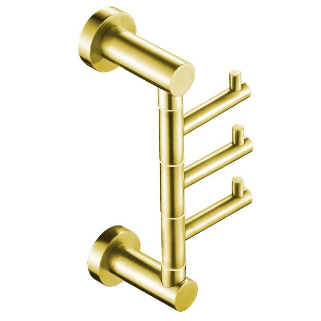 קולב שלישיה למגבות אמבטיה VOLTA זהב מט 4566MG