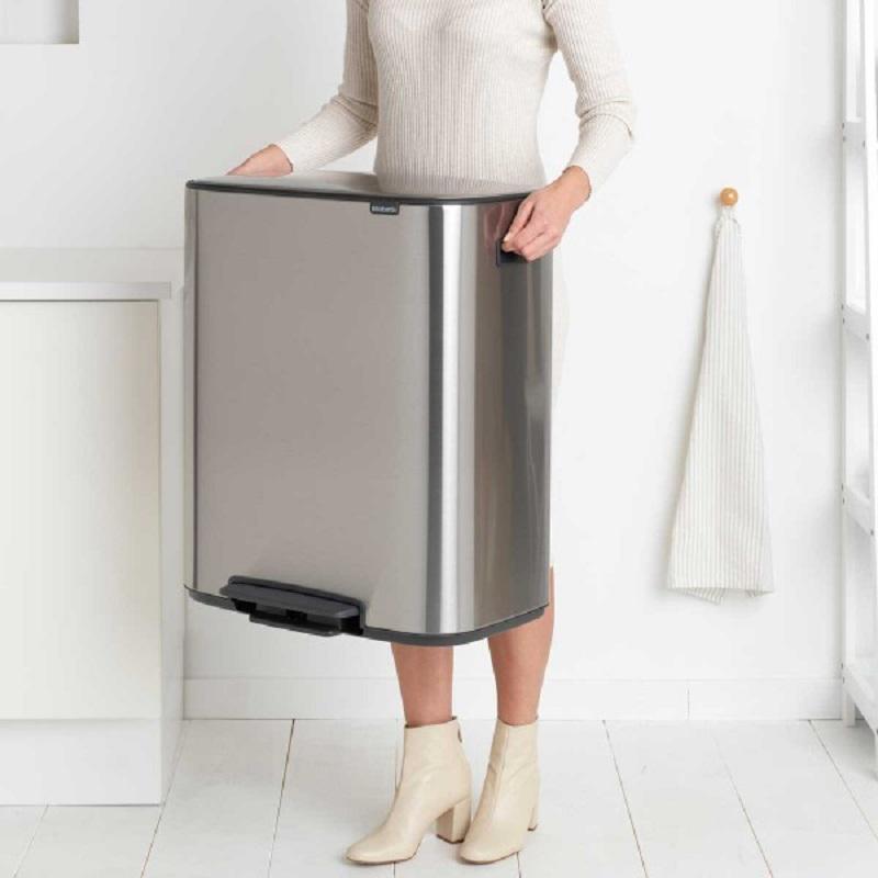 פח אשפה למטבח פדל 60 ליטר 211324-Y BO BRABANTIA אפור מט