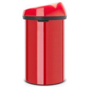 פח טאץ גדול למטבח BRABANTIA אדום 60 ליטר Y402487