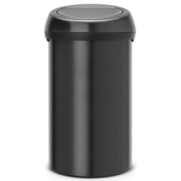 פח ענק מכסה טאץ 60 ליטר שחור Brabantia -NewIcon Y-402562 באטיקו BATICO 1