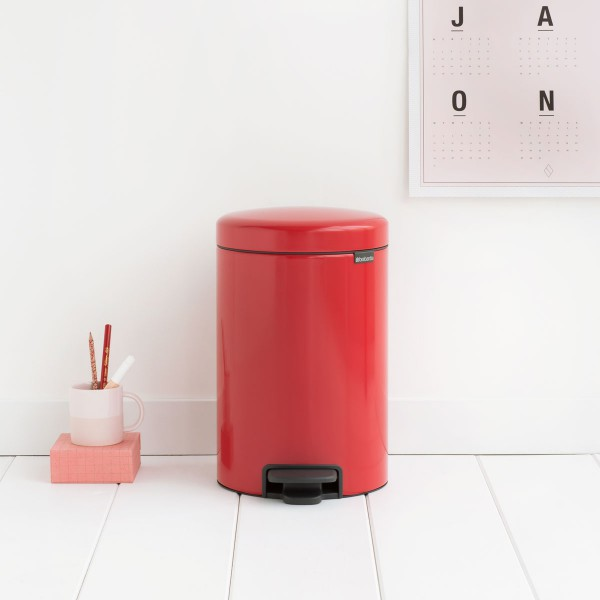 פח פדל לאמבטיה או למשרד 12 ליטר אדום NewIcon Y-112003 באטיקו BATICO 6