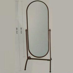 """מראה רצפתית מלבן מעוגל מעוצבת מסגרת שחורה 58/160 ס""""מ 605201360BL 1"""