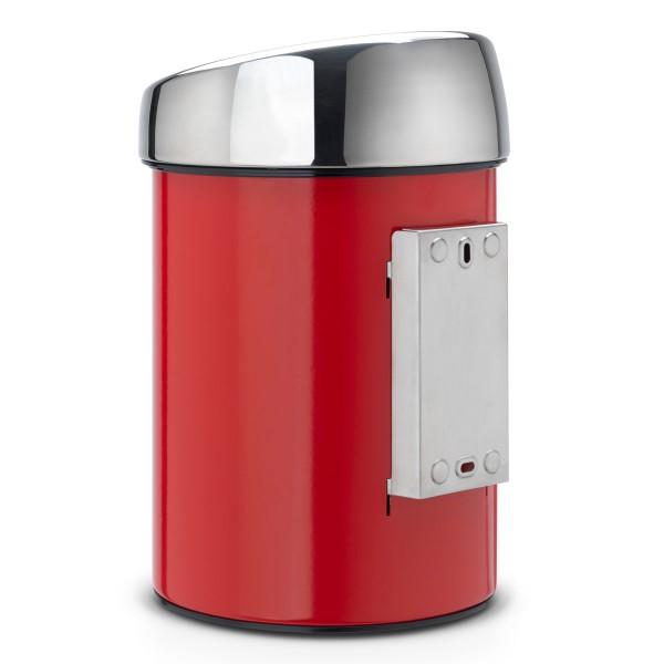 פח טאץ לשירותים כולל תליה 3 ליטר אדום Y-364426 באטיקו BATICO 4