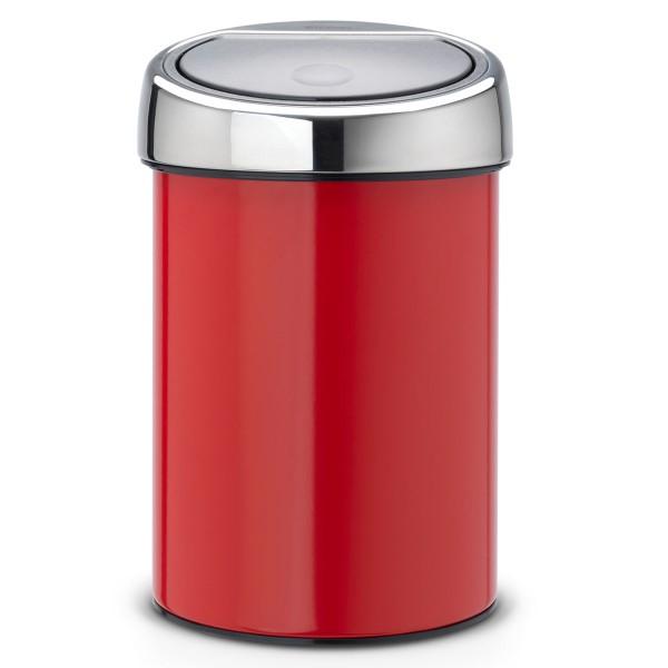 פח אשפה טאץ כולל תלייה 3 ליטר אדום Brabantia Y364426