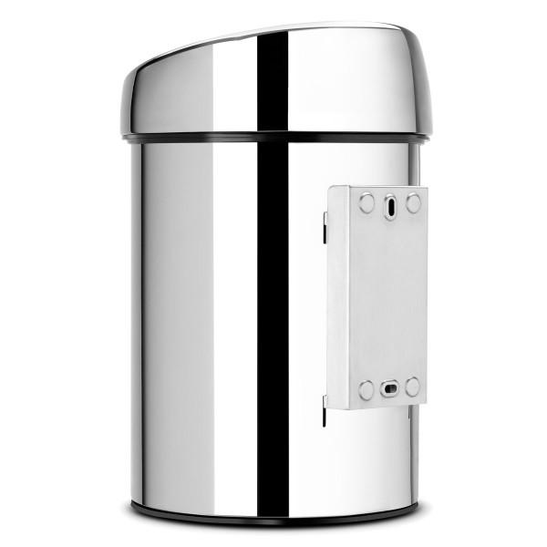 פח טאץ לשירותים כולל תליה 3 ליטר אפור מבריק Y-363962 באטיקו BATICO2
