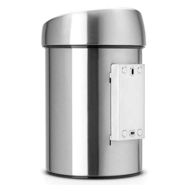 פח טאץ לשירותים כולל תליה 3 ליטר אפור מט Y-363986 באטיקו BATICO 4