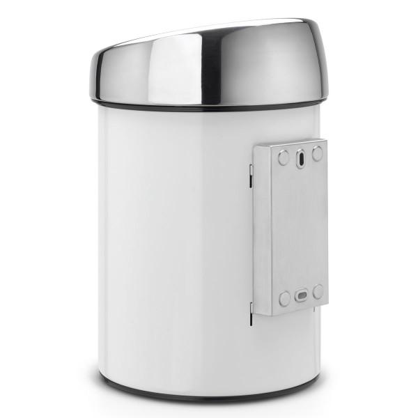 פח טאץ לשירותים כולל תליה 3 ליטר לבן Y-364488 באטיקו BATICO 4
