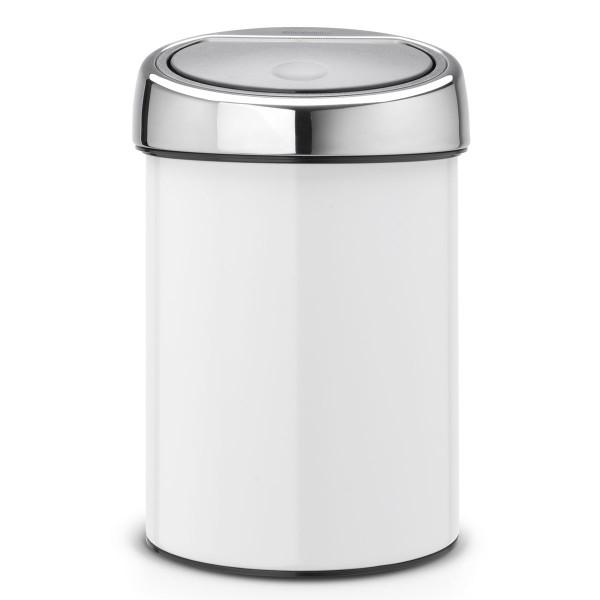פח אשפה טאץ כולל תלייה 3 ליטר לבן Brabantia Y364488