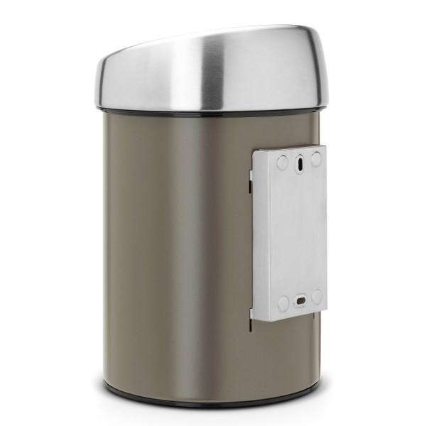 פח טאץ לשירותים כולל תליה 3 ליטר פלטינום Y-364464 באטיקו BATICO 4
