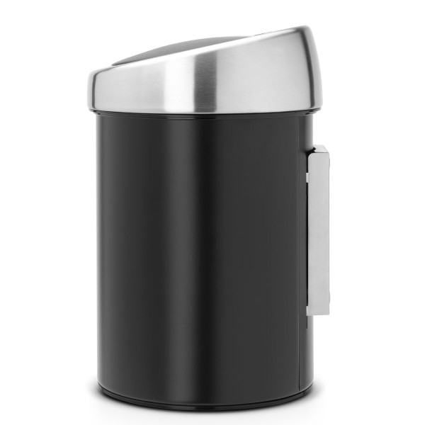 פח טאץ לשירותים כולל תליה 3 ליטר שחור Y-364440 באטיקו BATICO 3