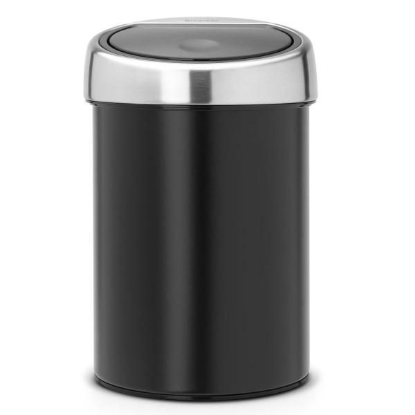פח אשפה טאץ כולל תלייה 3 ליטר שחור Brabantia Y364440