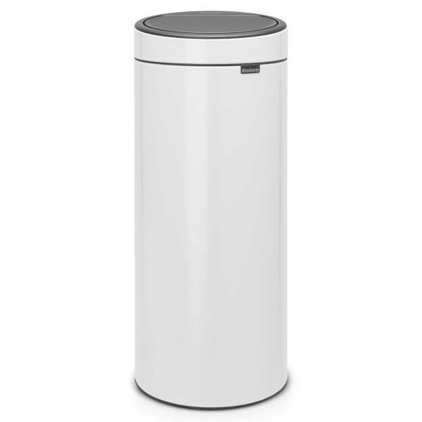 פח אשפה טאץ 30 ליטר לבן Limited Edition-Brabantia Y115141