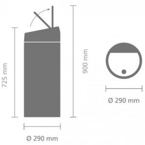 פח אשפה טאץ 30 ליטר פלטינום Limited Edition-Brabantia Y402760 1