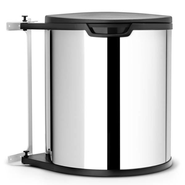 פח אשפה פנימי למטבח – מתחת לכיור 15 ליטר מבריק Brabantia Y418181