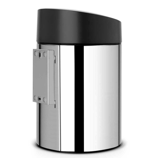 פח סלייד 5 ליטר אפור מבריק מכסה שחור Y-397127 באטיקו BATICO 2