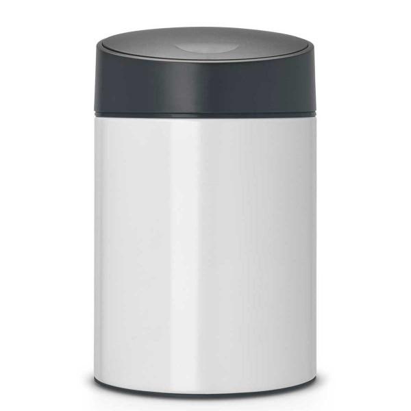 פח אשפה סלייד כולל תלייה 5 ליטר לבן/מכסה שחור Brabantia Y483165