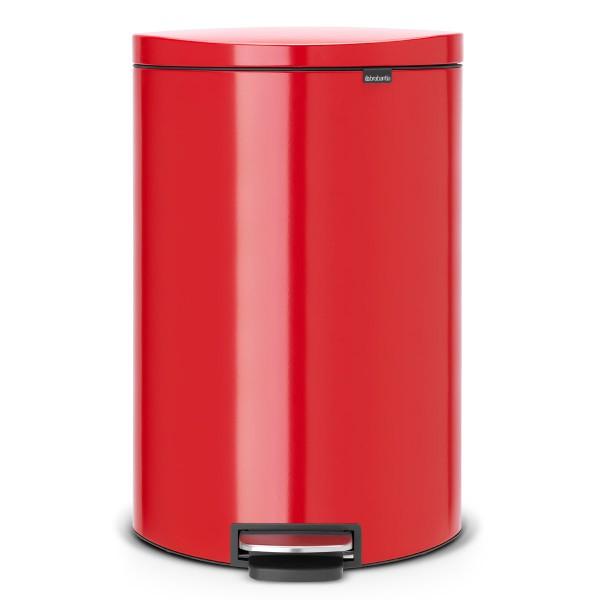 פח פדל אובלי גדול למטבח BRABANTIA אדום 40 ליטר Y485220