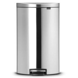 פח פדל אובלי גדול למטבח BRABANTIA מט 40 ליטר Y482021