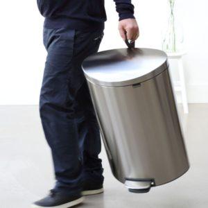 פח פדל אובלי גדול למטבח BRABANTIA מט 40 ליטר Y482021 2
