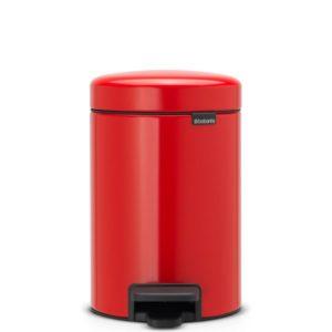 פח פדל קטן NewIcon Brabantia אדום 3 ליטר Y112140