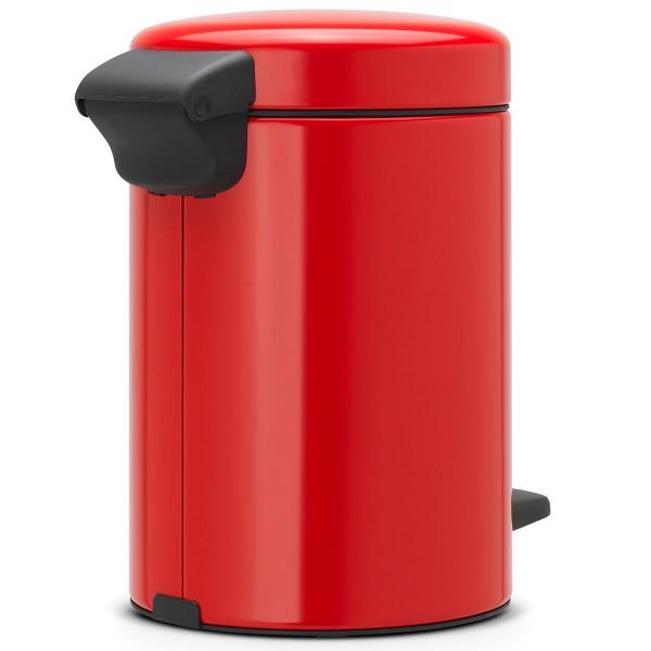 פח פדל לשירותים 3 ליטר אדום NewIcon Y-112140 באטיקו BATICO 1