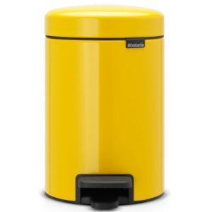 פח פדל קטן NewIcon Brabantia צבע צהוב-דייזי 3 ליטר Y113123