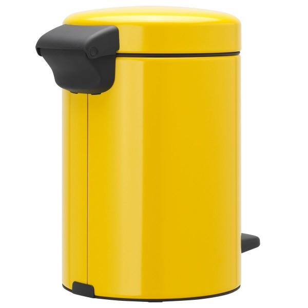 פח פדל לשירותים 3 ליטר צהוב NewIcon Y-113123 באטיקו BATICO 1
