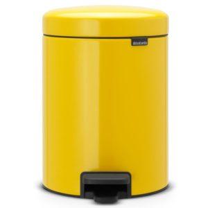 פח פדל קטן לשירותים BRABANTIA צבע צהוב-דייזי 5 ליטר Y112522
