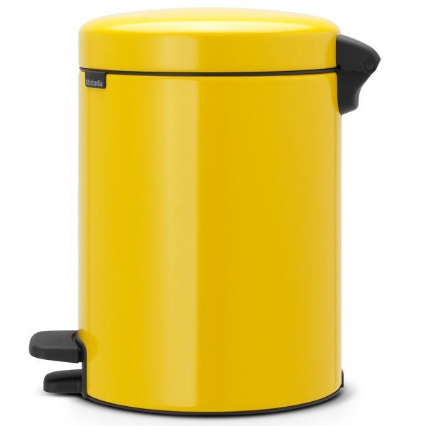 פח פדל לשירותים 5 ליטר צהוב דייזי NewIcon Y-112522 באטיקו BATICO 1