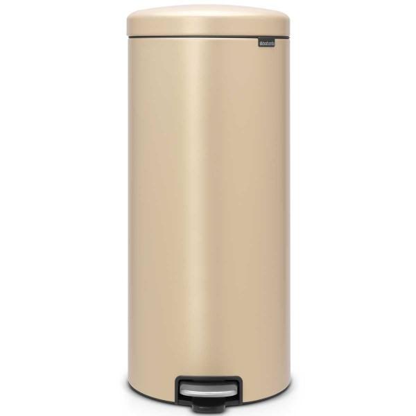 פח פדל עגול גדול 30 ליטר NewIcon – זהוב מינרלי BRABANTIA Y115967