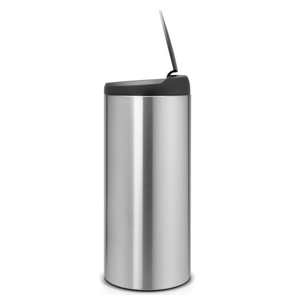 פח פליפ 30 ליטר אפור מכסה שחורY-106965 באטיקו BATICO 2