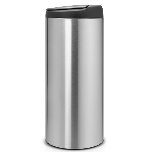 פח אשפה פליפ 30 ליטר BRABANTIA צבע אפור מט מכסה שחור Y106965