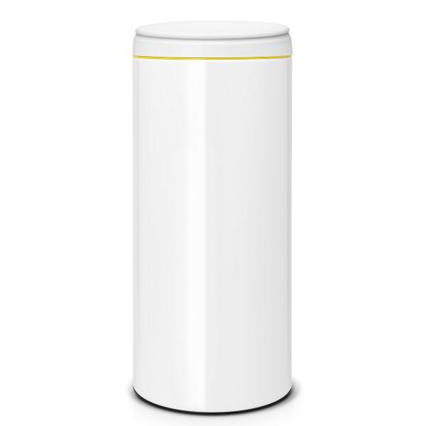 פח אשפה פליפ 30 ליטר BRABANTIA צבע לבן מכסה אפור Y106866