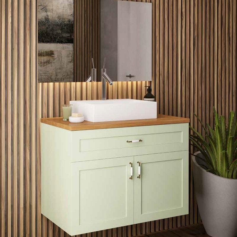 """ארון אמבטיה כפרי תלוי אפקוסי 80 ס""""מ דגם קוין"""