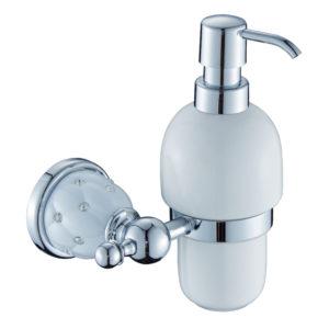 דיספנסר לסבון נוזלי ניקל לבן DIAMOND 4252W