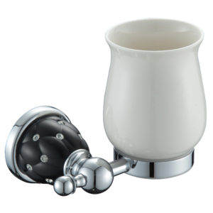 כוס למברשות שיניים ניקל שחור DIAMOND 4258B