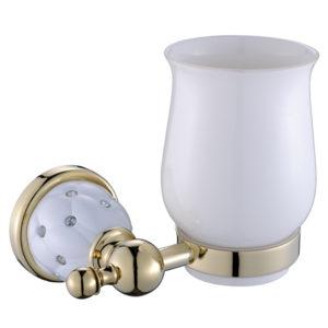 כוס למברשות שיניים זהב לבן DIAMOND 4258G
