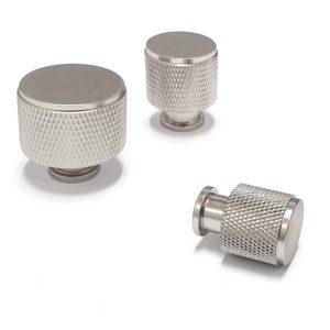 ידיות כפתור לארונות ומגירות K9093M מוברש ב-3 גדלים