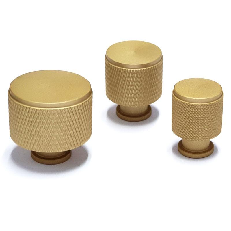 ידיות כפתור לארונות ומגירות K9093MF פליז מט ב-3 גדלים