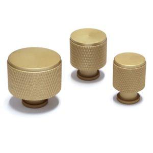 ידיות כפתור לארונות ומגירות K9093MG זהב מט ב-3 גדלים