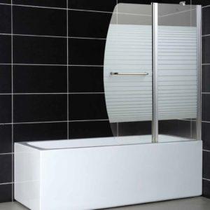 אמבטיון כנף פרופילים עם דופן קבועה ודלת נפתחת פנימה והחוצה