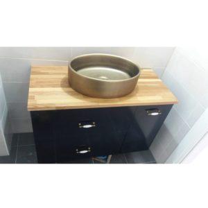 """ארון אמבטיה אספקה מיידית 100 ס""""מ שחור מט בוצ'ר"""